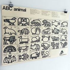 """Posters from """"Animal Alphabet"""" on Behance"""