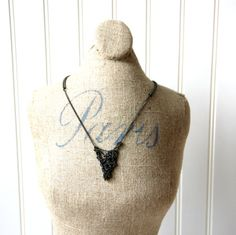 Intertwined in Love Gunmetal Necklace by urbani1920 on Etsy, $30.00
