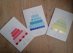 Simpele kaartjes met Washi-tape en knoopjes
