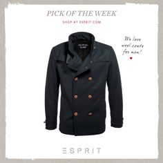 2e31c1ab3c This week s favourite pick is dedicated to all gentlemen out there  A chic  blended wool jacket with a wide bend collar and trench-style epaulets.
