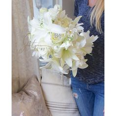 fabulous vancouver wedding A pure white bouquet for a bride who loves Lilies and sparkle. #justynaevents #vancouverflorist #florist #flowers #floraldecor #bouquet #bridalbouquet #brides #vancouverbride #whitebouquet #glamour #glamorous #sparkle #sparkles #romance #romantic by @justynaevents  #vancouverflorist #vancouverwedding #vancouverwedding