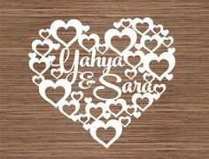 Your place to buy and sell all things handmade New Things To Try, Things To Sell, Good Friends Are Hard To Find, Wedding Drawing, Scroll Saw Patterns, Templates Printable Free, Wooden Hearts, Kirigami, Box Frames