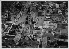 AK Forst N.L. Fliegeraufnahme vom Markt 1935