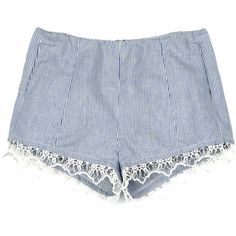 Rag & Bone Highclare Short ($130) ❤ liked on Polyvore featuring shorts, bottoms, pants, short, indigo, flat front shorts, rag & bone, stripe shorts, short shorts and striped shorts