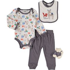 Chick Pea Infant Boys Great Vibes Baby Outfit Aztec Print Footie Pants Set