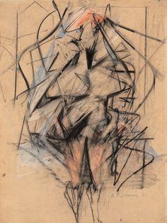 "Willem De Kooning, ""Woman"" 1951, mixed media"
