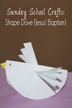 Sunday School Crafts: Shape Dove (Jesus' Baptism) - Pocketful of Posies