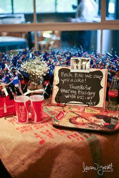 Cute vintage favors - LOVE my coca cola  Keywords: #coca-colaweddings #jevelweddingplanning Follow Us: www.jevelweddingplanning.com  www.facebook.com/jevelweddingplanning/