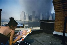 Alex Webb: View of lower Manhattan from a Brooklyn Heights rooftop, New York City, September © Alex Webb/Magnum Magnum Photos, Lower Manhattan, World Trade Center, Magnum Opus, Rare Photos, Photos Du, Iconic Photos, Color Photography, Street Photography