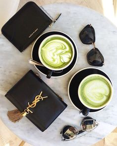 Midday matcha break (at Chalait) Fashion Handbags, Purses And Handbags, Coffee Is Life, Girl Day, Vintage Girls, Matcha, Girly Things, Saint Laurent, Perfume