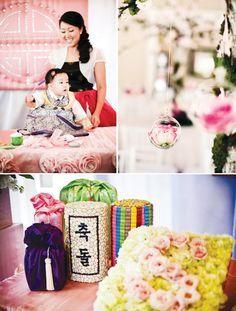 Beautiful Korean Dol First Birthday Celebration