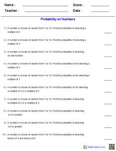 probability worksheets using a spinner math aids com probability worksheets 7th grade math. Black Bedroom Furniture Sets. Home Design Ideas