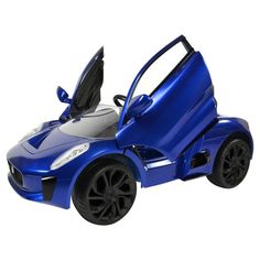 When they have a need for speed, take care of it with the Rollplay Ride On 6V Jaguar C-X75. This blue kids' electric car has the classic Jaguar look that they'll love, including lift-up doors, adding a fun style to their playtime. With a maximum speed of 2 miles per hour, you won't have to worry about them going too fast in this kids' Jaguar. | www.aryanalynae.com