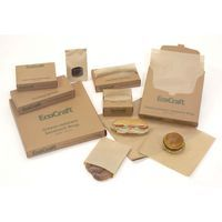Natural Kraft Deli/Bakery Packaging  An environmentally-friendly choice that adds perceived value to bakery and deli purchases.    • Natural FDA-approved Kraft paper stock is 35% PCR material manufactured from chlorine-free pulp.     • 100% recycled dispenser cartons are printed with water-based inks.     • Bakery Tissue and interfolded Deli Paper utilize a unique soy-blend dry wax.    • Open Sesame Bag opens at top and side.
