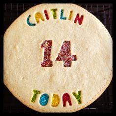 Birthday Shortbread Cookie