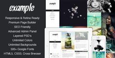 Example - Responsive & Retina Portfolio WP Theme by mpc  Testimonials This theme purchase was easily the best decision I?ve ever made for the maintenance of my blog. I could kiss you for