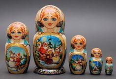Matryoshka nesting doll fairy-tale free worldwide shipping | ArtMatryoshka - Art on ArtFire