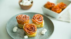 Swap old-fashioned sweet potato casserole for delicately spiraled roses.