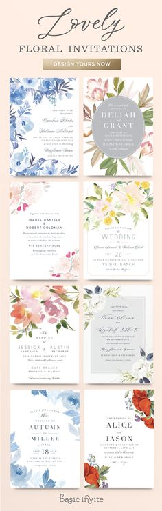 Add some color to your wedding invitations with hand picked floral designs that are sure to impress your guests. Wedding Invitation Inspiration, Vintage Wedding Invitations, Wedding Invitation Design, Wedding Stationary, Wedding Cards, Our Wedding, Dream Wedding, Wedding Venues, Wedding Shoes
