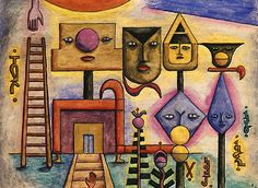 Painter and astrologer Xul Solar Art Brut, Wassily Kandinsky, Outsider Art, Sacred Geometry, American Artists, Abstract Art, Colours, Cool Stuff, Artwork