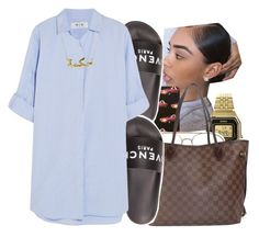 """"""""""" by fresh-beautyx ❤ liked on Polyvore featuring Casio, Forever 21, Louis Vuitton, Givenchy and M.i.h Jeans"""