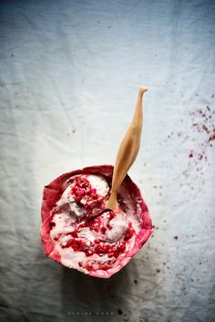 Raspberry and rosebud nice cream by claire gunn