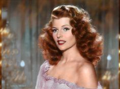 Rita Hayworth, born Margarita Carmen Cansino, was really a brunette. Description from imgur.com. I searched for this on bing.com/images