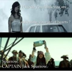 Capt Jack. The collector of hearts...