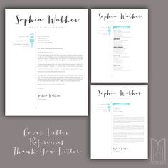 resume template and cover letter template by mypaperpig on etsy - Resume Letter Template