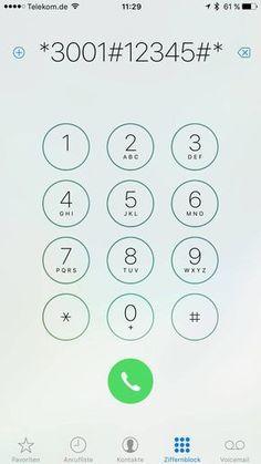 Mit bestimmten Zahlencodes können Sie geheime Funktionen abrufen.