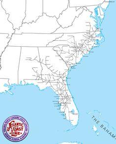 wwwamerican railscom images atlantic coast line railroad railroad pictureslocomotivecoasttrainsmapstrainseasidecards