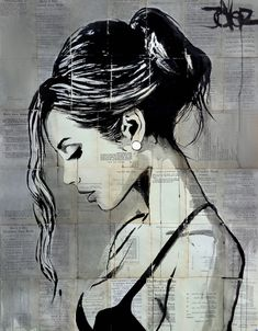 View LOUI JOVER's Artwork on Saatchi Art. Find art for sale at great prices from artists including Paintings, Photography, Sculpture, and Prints by Top Emerging Artists like LOUI JOVER. Art Pop, Pencil Portrait, Portrait Art, Art Sketches, Art Drawings, Newspaper Art, Drawn Art, Arte Sketchbook, Drawing People