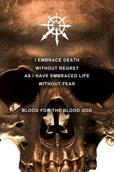 """warhammermotivation: """"Live forever and know the ecstasy of endless battle """""""