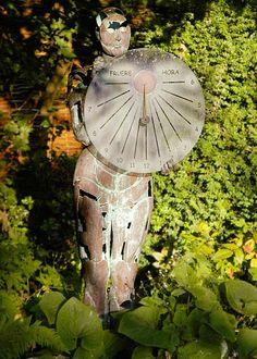 Copper garden sculpture - the Light Sorceress