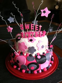 My daughters Sweet 16 cake!!!