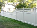 Square Lattice Topper paired with a nice Capped Jamestown Picket Fence