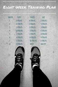 The Ultra in Ultra Marathon Running - 8 Week, 10 Mile Run training plan - 10 Mile Training Plan, Half Marathon Training Schedule, Running Training Plan, Training For A 10k, Running Guide, Race Training, Running For Beginners, Marathon Running, Running Workouts