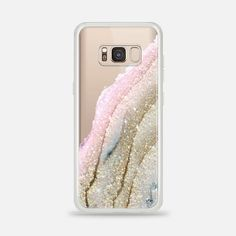 FLAWLESS PINK FAUX GOLD by Monika Strigel samsung galaxy s8 case