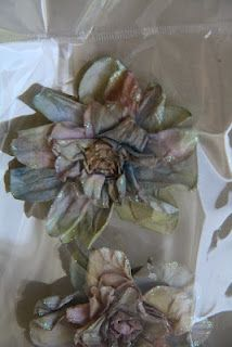 Shazza's Magic flowers I made using home made glimmer mist.