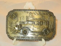 Dodge Brothers Detroit Michigan Car Brass Belt Buckle vintage brass belt buckle mans brass belt buckle by LeapOfFaithVintage