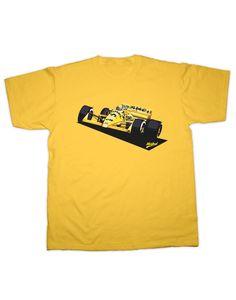 Ayrton Senna Honda Camel T-Shirt Yellow