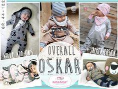 Bam! Hier ist Oskar :) Und Oskar ist nicht einfach nur unser neur Overallschnitt, nein, Oskar kann so einiges mehr! Oskar kommt in den größen 44 - 122 mit einer ausführlich und prall vollgepackten...