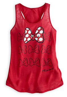 Minnie Mouse Bow Tank Top