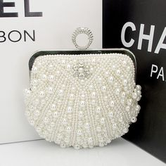 Find More   Information about Hot Full Hand Beaded Evening Bag Pearls Diamond Mini Women Handbags Bridal Clutch Purse Wedding Party 3 Colors Chain Sac a Main,High Quality  ,China   Suppliers, Cheap   from momofashion on Aliexpress.com