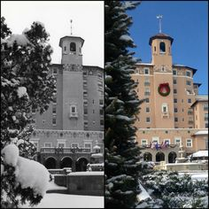 It's a ‪‎winter wonderland‬ at The Broadmoor today! Take a look at these photo's in comparison from 2015 and 1961. ‪