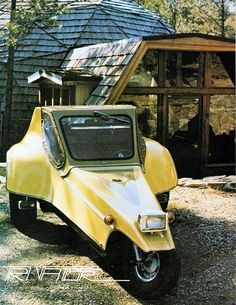 1979 Tri-Vator (by aldenjewell) Yellow Car, Mellow Yellow, Funny Looking Cars, Microcar, Reverse Trike, R80, Weird Cars, Cute Cars, Electric Cars