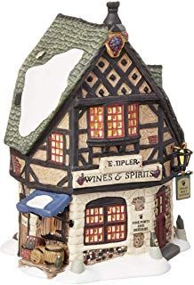 Shop a great selection of Department 56 Dickens' Village E Tipler Agent Wine Spirits Building. Find new offer and Similar products for Department 56 Dickens' Village E Tipler Agent Wine Spirits Building. Christmas Village Decorations, Christmas Village Houses, Christmas Villages, Halloween Christmas, Christmas Home, Lemax Christmas, Blue Christmas, Spooky Halloween, Vintage Halloween
