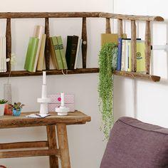 Wir funktionieren eine alte Leiter zum Bücherregal um