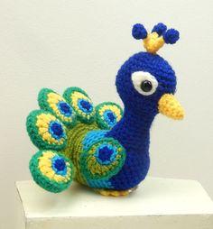 Paksha the Peacock amigurumi pattern by Janine Holmes at Moji-Moji Design