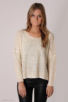 casper sequin knit - cream/gold